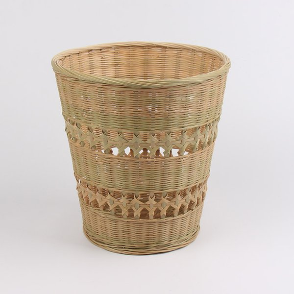 Wholesale- bamboo weave trash can painting and calligraphy Storage basket Baskets Crafts Home Decoration no paint chinese style basket