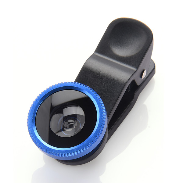 Universal 3-in-1 Wide Angle Macro Fisheye Lens Kit with Clip 0.67x Mobile Phone Fish Eye Lens for iPhone For Samsung HTC LG
