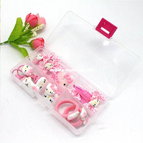 7ad2dc30c 1 BOX 2017 Fashion cute girls Hello Kitty hair accessories elastic hair  bands Girl hair clip