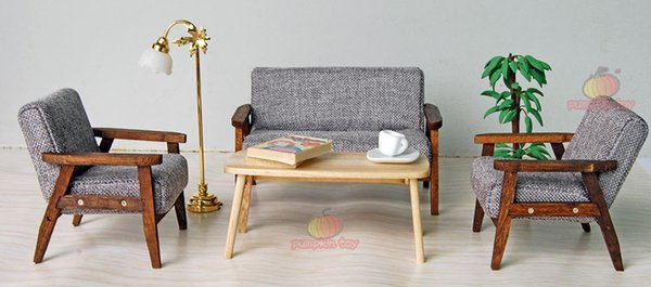 Madeira 4pcs Sofá Chair End Table Em Gray Sofá Modelo Set For Living Room 1: