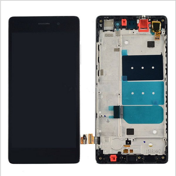 Wholesale- Full LCD Display +Touch Screen Digitizer Glass +Frame Cover Assembly For Huawei P8 Lite ALE-L04 L21 TL00 L23 CL00 L02 UL00;Black