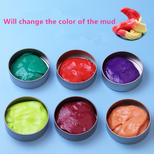 2017 Colorful Art Discolored clay Mud Swallowed Magnet Muds Handmade Playdough Education Fun Kids Toy Gift For Baby Plasticene Puzzle A1710