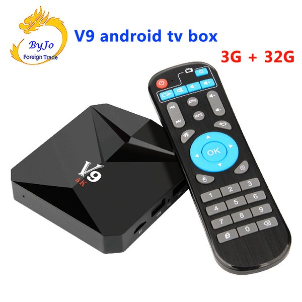 V9 Android 7.1 TV BOX 2G 16G Or 3G 32G Amlogic S912 Octa Core 2.4G WiFi BT4.0 4K 3D H.265 HDR10 Smart Media Player