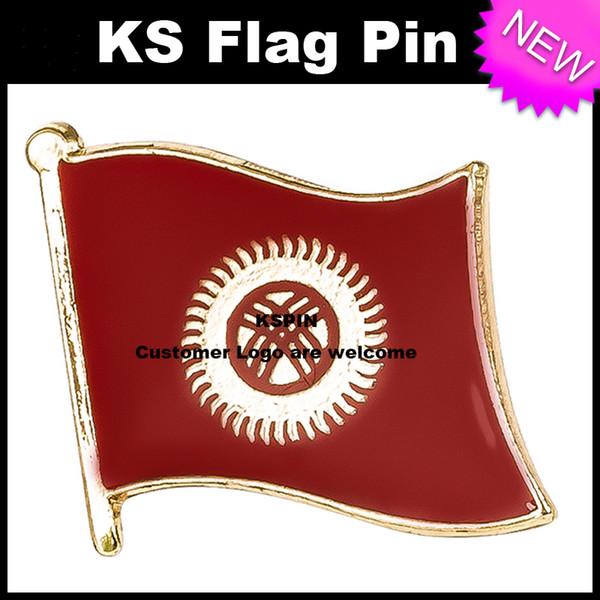Флаг Кыргызстана Значок Флаг Pin 10 шт. Много Бесплатная доставка KS-0080