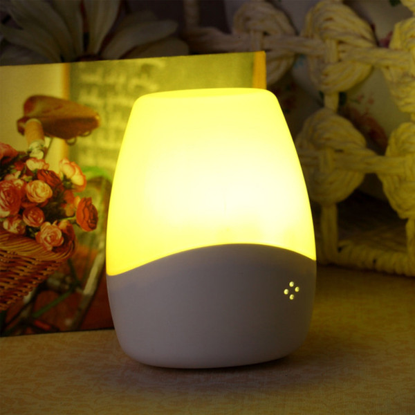 Baby sensor night light smart voice with socket children's room corridor corridor hotel 3D light white powder three-color choice