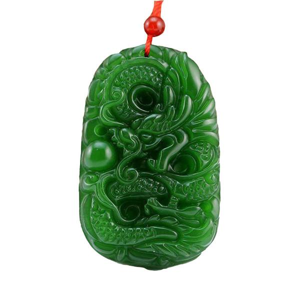 FREE SHIPPING XINJIANG HeTian jade handmade carving jade dragon pendants for men
