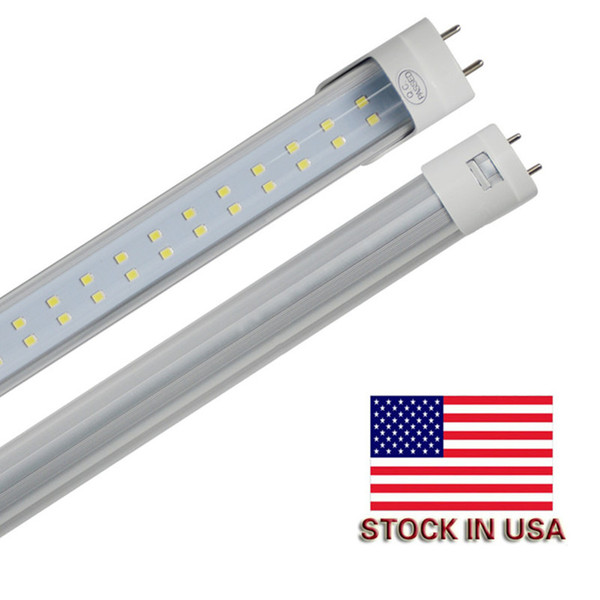G13 T8 4ft SMD2835 144Leds Led Tube Double pins 28W 3000lumens Warm Cold White Led Fluorescent Tube Light Clear/Frosted Cover free Shipping