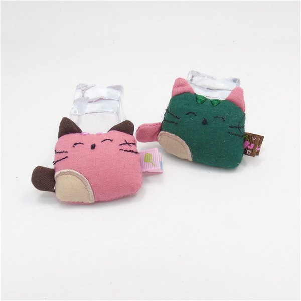 20pcs/lot Cute Cat Hair Clip Pink Dark Green Puffy Cotton Kitty Cartoon Animal Barrette Baby Girl Lovely Pet Fashion Hair Grip