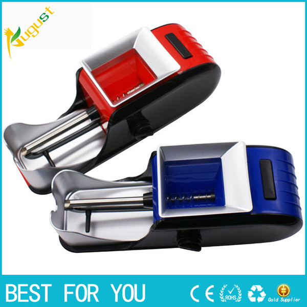 Electric Cigarette Tobacco Roller Rolling Injector Machine Maker Cigarette Machine EU Plug with a retail box package Smoking Accessories