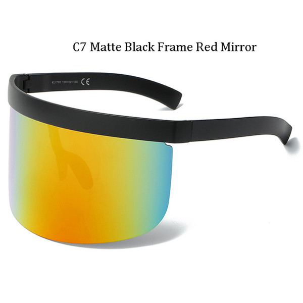 C7 Matte Black Frame Miroir Rouge