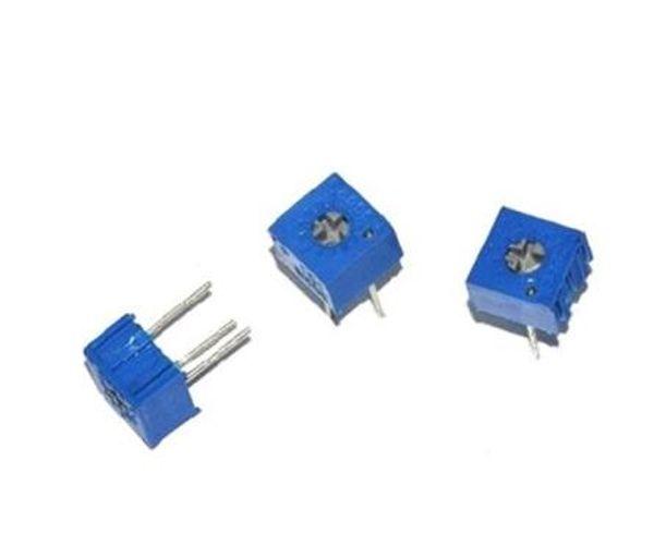 10Pcs 3296W-501 3296 W 500R Ohm Trim Pot Trimmer Potentiometer bg