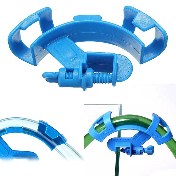 best selling 50Pcs  Lot Aquarium Water Hose Holder Water Pipe Filter For Mount Tube Clip Fish Tank Firmly Hold Hose Fixing Clamp Accessories