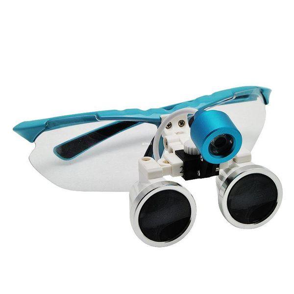 Freeshipping CE Provou Assista Minúsculo Equipamento observar pedra planta animmal Dental Lupas Óculos Dental 3.5X 420mm + LED Head Light Lamp
