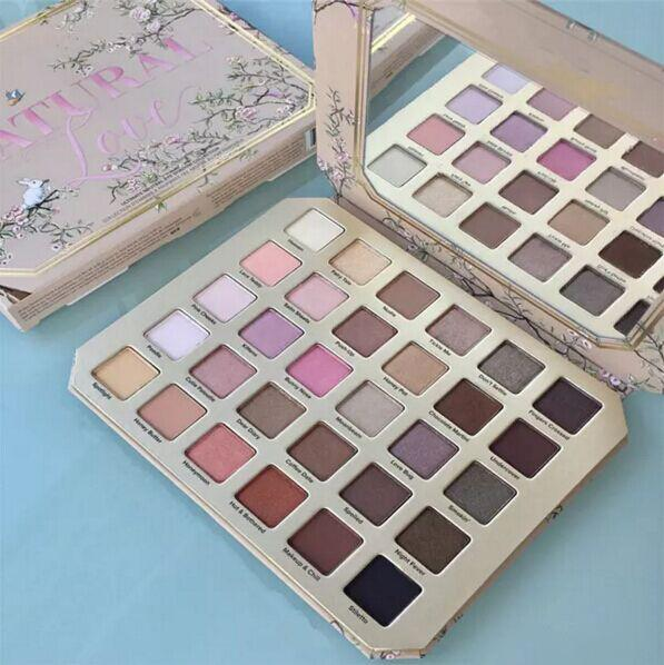2017 NEW Face Makeup Natural Love Eye Shadow Collection Pallette 30 Colors Professional Eyeshadow Palette Free Shipping