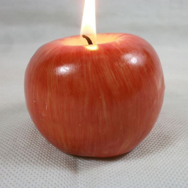 Fruit candle Vintage Apple candle home docor romantic party decorations Apple scented candles For Wedding Party Birthday Christmas Eve