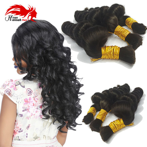 top popular Human Hair For Micro Braids Peruvian Loose Wave Human Hair For Braiding Bulk No Attachment Peruvian Virgin Bulk Hair 3Pcs Lot Loose Wave 2019