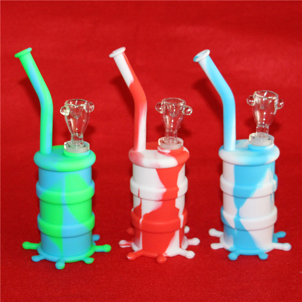 Hot Sale Silicon Rigs Water pipe Silicone Hookah Bongs Silicon Dab Rigs Cool Shape 5ml silicone container good quality and free shipping DHL