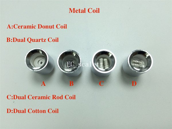 Silver Cannon coils Dual quartz Wax replacement Ceramic Donut Coil for cannon bowling vaporizer glass globe dry herb straight tube Atomizer