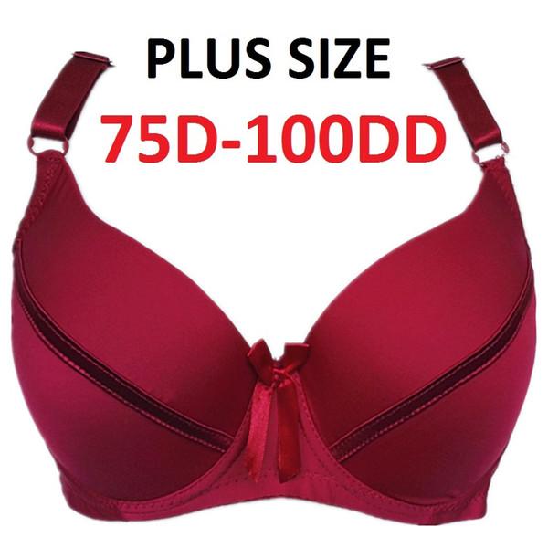 Hohe Qualität Frauen Dessous Glatt Ätherisches Push up Underwire Full Coverage T-shirt Bra 34D-100DD tassen Plus Größen H272