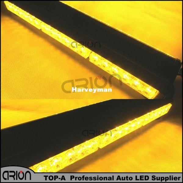 Hot 36 LED 108W Double Side Car Truck Flashing Strobe Work Light Bar Amber Beacons Flash Emergency LightBar Lamp Warning Lights