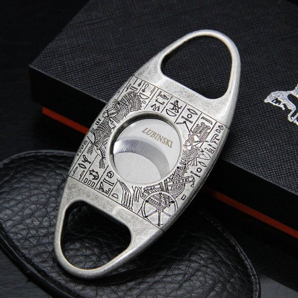 Classical silver metallic stainless steel double finger stretch type cigar cutter cigar scissor smoking accessories easy operation