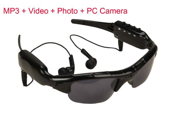 Occhiali da sole intelligenti Occhiali da vista Occhiali da musica Supporto TF Card Videoregistratore DVR DV MP3 Camcorder