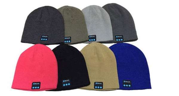 DHL Free Bluetooth Music Soft Warm Beanie Hat Cap with Stereo Headphone Headset Speaker Wireless Mic Hands-free for Men Women