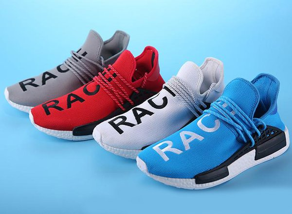 acebbb3ec7668 Fashion Promotion HUMAN RACE SHOES Pharrell Williams X Runner Shoes Man    Women New Arrivals Summer Autumn Sneakers Munro Shoes Pink Shoes From  Cshoes