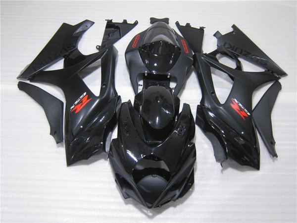 100% литья под давлением обтекатели для Suzuki GSXR1000 05 06 черный обтекатель комплект для GSXR1000 2005 2006 OT35