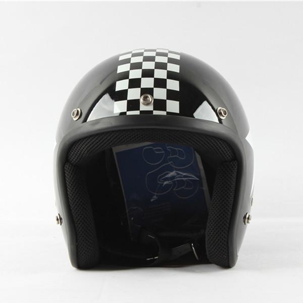 2017 Motorcycle Bike 3//4 Open Face Half Helmet Unisex Helmets with Dual Lens