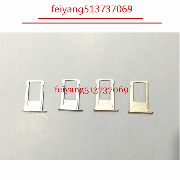 A quality New Nano Sim Card Tray Slot Holder Replacement Parts For iPhone 6 6S 6 plus 6s plus Gold/Gray/Siver/Rose