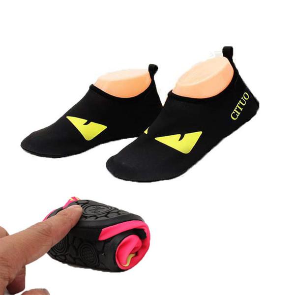 top popular Quick Dry Shoes Eye Guy Pattern Children Sport Running Anti-slip Swimming Pool Beach Girls Sandy beach Couples Shoe Sneakers 2021