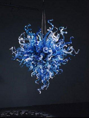 Free Shipping 100% Mouth Blown Borosilicate Wholesale Heart Design Hanging Pendant Light Hand Blown Glass Chandelier Lighting
