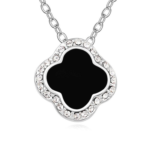 New arrival 2 colors famous brands jewelry for women classical design four leaf clover necklace with genuine Austrian crystal