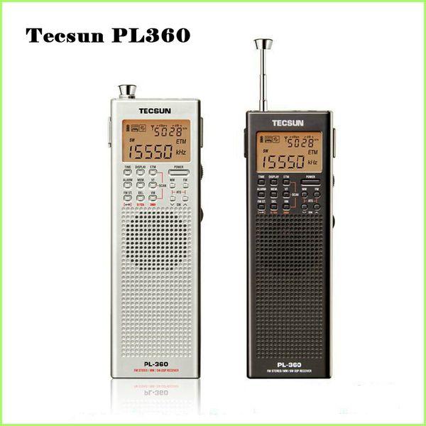 Wholesale-Tecsun PL 360 portable radio usb digital AM FM pocket radio recorder Shortwave PLL DSP ETM SW MW LW Receiver pl-360
