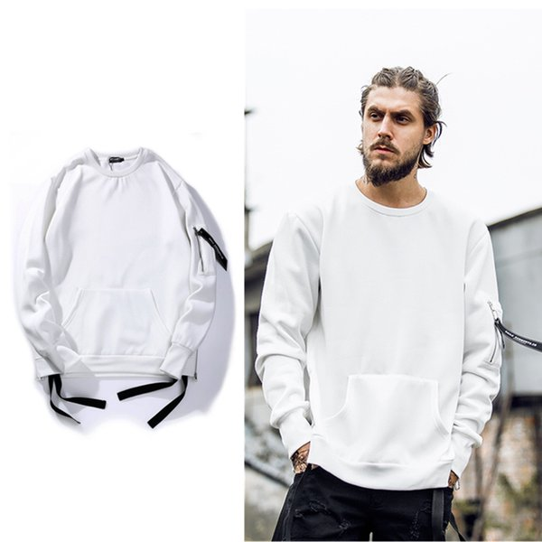Ribbon Pullover Mens Sweatshirts new Streetwear Hip Hop Sweatshirt ...