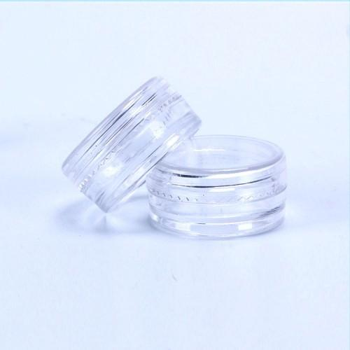 2ML/2Gram cosmetic plastic pot jar 28x13MM Screw Lid Clear Round Sample Size For Cosmetic Cream Eye Shadow Nails Powder Jewelry E-Liquid