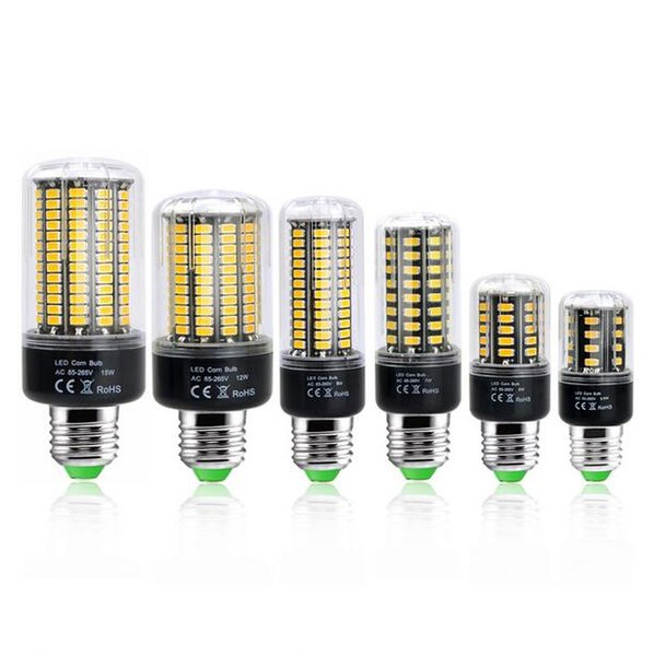 LED Bulb No Flicker 5736 SMD E27 E14 3.5W 5W 7W 9W 12W 15W LED Corn Bulb light Constant Current 28-156LEDs Lamp