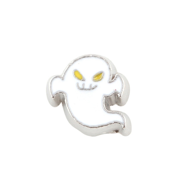 20pcs/lot free shipping good quality new type alloy ghost floating charms for glass living memory lockets