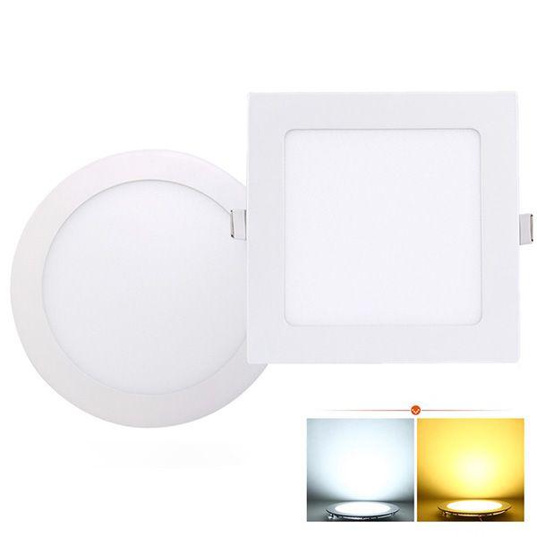 Ultra dünne geführte Instrumententafel-Leuchte runde / quadratische 3w 4w 6w 9w 12w 15w 18w LED-Decke vertiefte hinunter Licht AC85-265V LED downlight