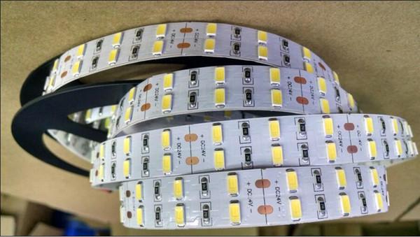 Frete Grátis de Alta Qualidade tira conduzida 200 m / lote frete grátis 5 m / roll 600leds branco à prova d 'água 5630 placa PCB SMD5730 levou luz de tira