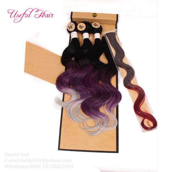 ombre purple white