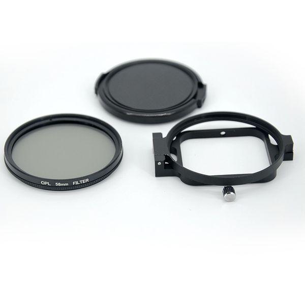 58mm Circular UV/CPL filter kit with flip ring for Hero 7 6 5 Black action camera waterproof housing case
