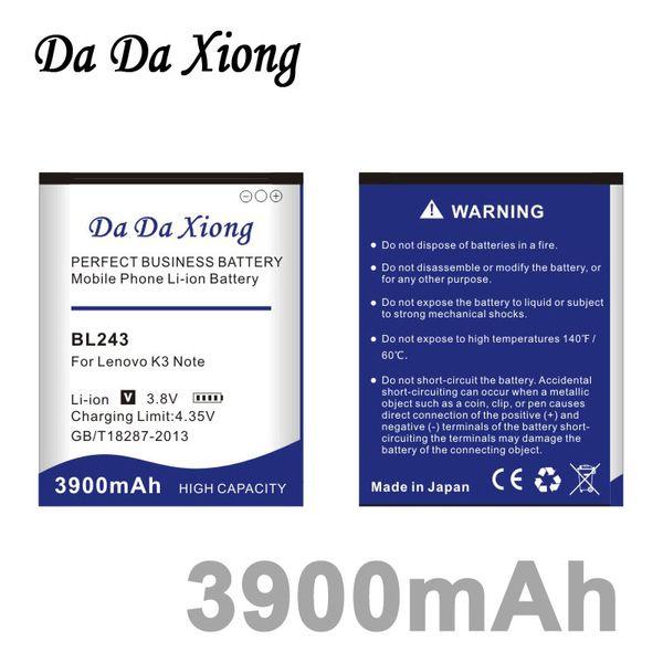 best selling Da Da Xiong 3900mAh BL243 Battery for Lenovo K3 Note K50-T5 A7000 A5500 A5600 A7600