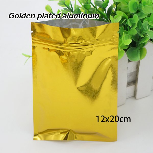 12*20cm Golden opaque self-styled bag Aluminum foil bag Mobile phone shell Food Ornaments bags Spot 100/ package