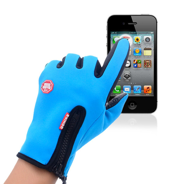 Outdoor Touch Screen Gloves, Men And Women Climbing All Refers To The Riding Movement of Winter Waterproof Wind Proof Thermal Insulation