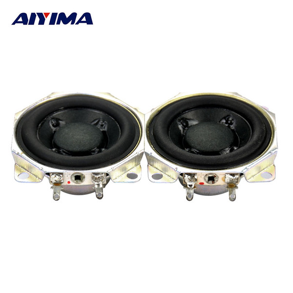 Wholesale- AIYIMA 2pcs 2Inch 10W 12Ohm Parallel Connection 6 ohm Series Connection 24 ohm Neodymium Full Range DIY Dual Voice Coil Speaker