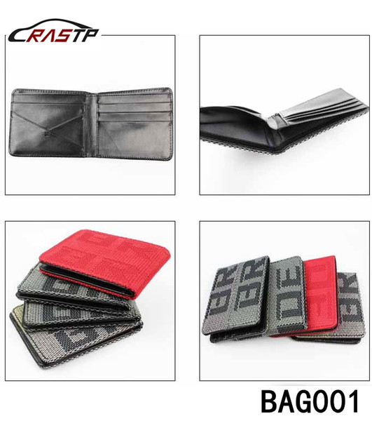 top popular RASTP - Free Shipping Maven Japstyle BRIDE Wallet JDM VERSION Racing Seat Fabric and Leather Wallet RS-BAG001 2020