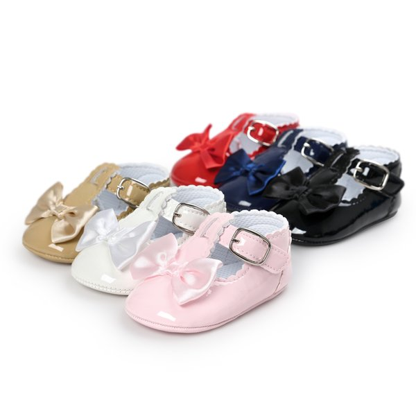 Fairy Newborn Non-slip Baby Leather Moccasins Supersoft Sole Infant Running Sports Shoes Girls Boys First Walkers Baby Kids Booties