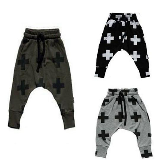 new Girls Boy Toddler Child Fashion Boys Pants trousers leggings Cross Star hip hop Children Harem Pants For Trousers Baby Clothes